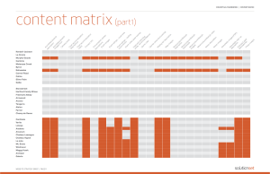 JFE Content Matrix