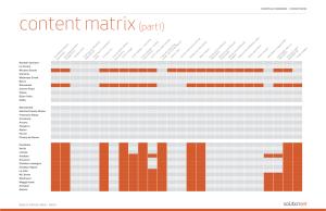 JFE Content Matrix