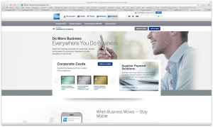 AMEX Corp Card Homepage